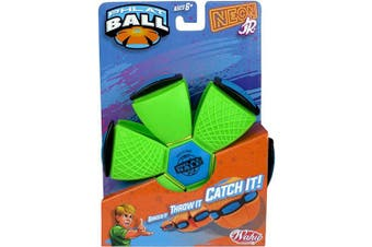 Goliath 31860.006 Phlat Neon or Metallic Coloured Transforming Outdoor Ball Toy-Pink, Orange, Green, Purple Yellow and Blue