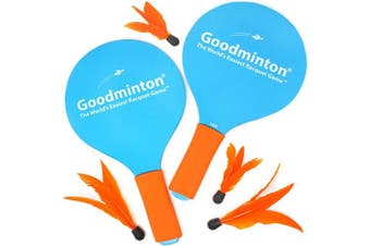 VIAHART Goodminton - The World's Easiest Racket Game - an Indoor Outdoor Year-Round Fun Racquet Game for Boys, Girls, and People of All Ages