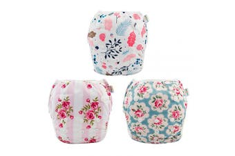 (one size( 0-2 Year), Rose & Peach Blossom) - babygoal Reusable Swim Nappy for Girls, One Size Adjustable and Washable Swim Underwear fits Babies 0-2 Years and Swimming Lessons 3SD01