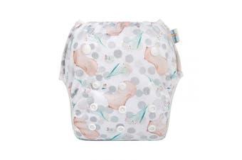 (one size( 0-2 Year), Groundhog) - Babygoal Baby Swim Nappy for Swim Lesson, Reusable Washable Adjustable Swim Underwear, Best Baby Shower Gift 0-2 years FSW41