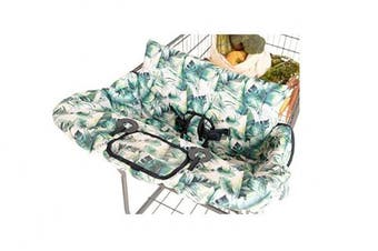 (Tropical Days) - BINXY BABY 2-in-1 Cushy Cart Cover and High Chair Cover | Universal Fit | Includes Storage Pouch (Tropical Days)