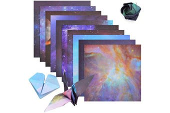 Origami Paper, 70 Sheets Beautiful Sky Folding Paper, 6 Inch Outer Space Square Easy Fold Paper Single Sided for Arts and Crafts Projects (15 x 15cm)