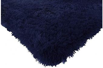 (1.2m x 1.5m, Navy) - ACTCUT Super Soft Indoor Modern Shag Area Silky Smooth Rugs Fluffy Anti-Skid Shaggy Area Rug Dining Living Room Carpet Comfy Bedroom Floor 4- Feet by 5- Feet (Navy)