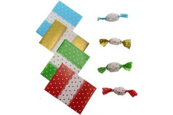 (Dot) - Penta Angel Candy Wrappers 400Pcs Twisting Wax Caramel Paper Sweets Lolly Baking Nougat Wrapping Paper for Homemade Wedding Birthday Christmas Chocolate Candy Packaging (Dot)