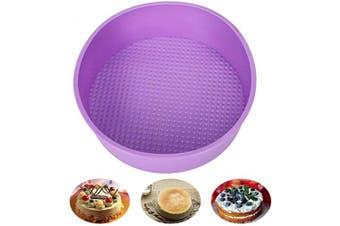 Baking Silicone 25cm Round Cake Pan Baking Mould, BPA Free, Non-Stick European-Grade Silicone, 5.5cm Deep