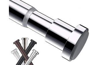 (27-110cm , Chrome) - BRIOFOX Tension Curtain Rod 27-110cm , Rust-Resistance Shower Curtain Rod for Windows or Doorways, Chrome