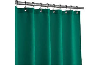 (71Wx72L, Turquoise) - Barossa Design Waffle Weave Shower Curtain Hotel Luxury Spa, 230 GSM Heavy Duty Fabric, Water Repellent, Turquoise, 180cm x 180cm