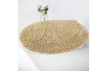 (Standard Lid, Beige) - MAYSHINE Seat Cloud Bath Washable Shaggy Microfiber Standard Toilet Lid Covers for Bathroom -Beige