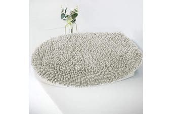 (Standard Lid, Light Gray) - MAYSHINE Seat Cloud Bath Washable Shaggy Microfiber Standard Toilet Lid Covers for Bathroom -Light Grey