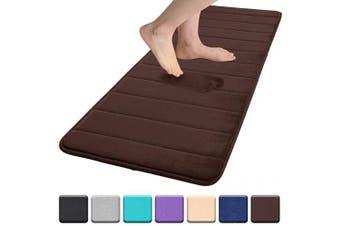 "(17""x47""/43x120 cm, Chocolate) - Colorxy Memory Foam Bath Mat - Soft & Absorbent Bathroom Rugs Non Slip Large Bath Rug Runner for Kitchen Bathroom Floors 43cm x 120cm , Chocolate"