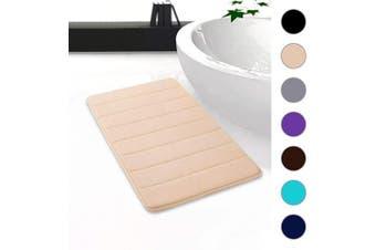 "(20""x32""/51x81 cm, Beige) - Colorxy Memory Foam Bath Mat - Soft & Absorbent Bathroom Rugs Non Slip Large Bath Rug Runner for Kitchen Bathroom Floors (20""x32""/51x81 cm, Beige)"