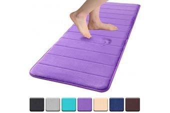 "(17""x47""/43x120 cm, Purple) - Colorxy Memory Foam Bath Mat - Soft & Absorbent Bathroom Rugs Non Slip Large Bath Rug Runner for Kitchen Bathroom Floors 43cm x 120cm , Purple"