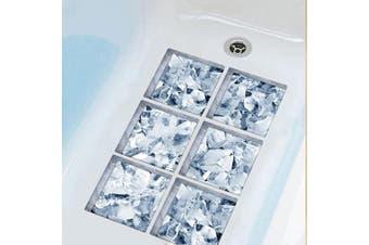 (Ice Cubes) - ChezMax 3D Stereoscopic Ice Cubes DIY Anti Slip Safety Shower Bath Tub Decal Stickers Bathtub Appliques 6 Pcs 15cm X 15cm