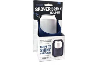 (Dark Blue) - 30 Watt The Original Sudski | Portable Shower Drink Cup Holder for All Canned Beer & Wine | Patented Silicone Drink Holders Grips Any Shiny Bath Surface | Perfect (Dark Blue)