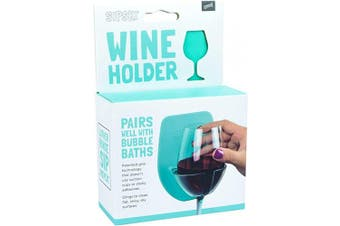 (Seafoam) - 30 Watt Sipski | Silicone Wine Glass Holder for The Bath & Shower. Give The Gift of Relaxation for Father's Day!
