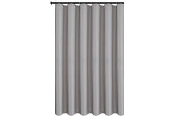 (180cm  X 180cm , Silver Grey) - Biscaynebay Fabric Shower Curtain Liners Water Resistant Bathroom Curtain Liners, Silver Grey 180cm by 180cm