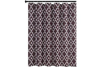 (180cm  x 180cm , Brown) - Biscaynebay Textured Fabric Shower Curtains, Morocco Pearl Printed Bathroom Curtains, Brown 180cm by 180cm