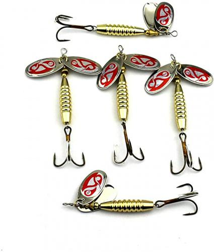 10//15//20g Metal Fishing Spoon Bass Baits Feather Bait Jig Wobbler Lure Bait ZJP
