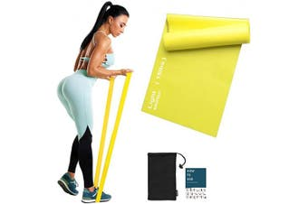 (Yellow-15lbs-Light Resistance) - Sportout Resistance Band Set, 2m Ultra Long Exercise Bands, 3 Resistance Levels Stretch Bands, with Guidebook and Bag,Ideal for Yoga, Ballet, Pilates, Physiotherapy, Training & Fitness Workouts