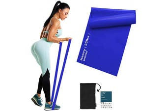 (Blue-25lbs-Heavy Resistance) - Sportout Resistance Band Set, 2m Ultra Long Exercise Bands, 3 Resistance Levels Stretch Bands, with Guidebook and Bag,Ideal for Yoga, Ballet, Pilates, Physiotherapy, Training & Fitness Workouts