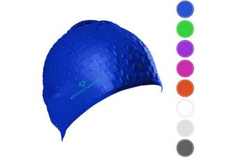 (blue) - #DoYourSwimming Swimming cap »Drops« unisex, made of durable silicone (spandex), very elastic, fits every head shape perfectly