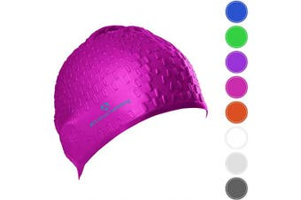 (pink) - #DoYourSwimming Swimming cap »Drops« unisex, made of durable silicone (spandex), very elastic, fits every head shape perfectly