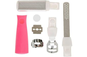 (SET OF 3) - Booieland D.X Foot Shaver And File - New Foot File, Including Callus Shaver, Flat Finishing Rasp and Curved Rasp (SET OF 3)