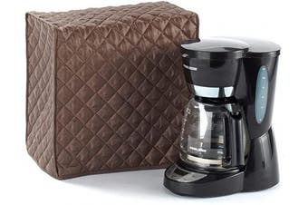 (11W x 9D x 15H - Rectangular, Bronze Quilted Polyester) - Covermates Keepsakes – Coffee Maker Cover – Dust Protection - Stain Resistant - Washable – Appliance Cover - Bronze
