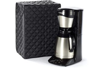 (8W x 8D x 17H - Square, Black Quilted Polyester) - Covermates Keepsakes – Coffee Maker Cover – Dust Protection - Stain Resistant - Washable – Appliance Cover - Black
