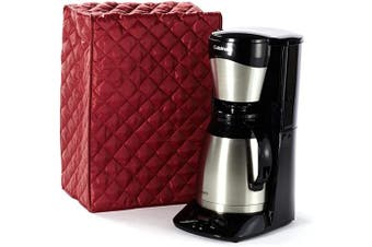 (9W x 5D x 17H - Rectangular, Red Quilted Polyester) - Covermates Keepsakes – Coffee Maker Cover – Dust Protection - Stain Resistant - Washable – Appliance Cover - Red
