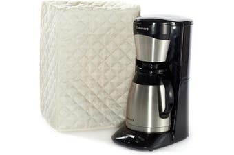 (8W x 8D x 17H - Square, Cream Quilted Polyester) - Covermates Keepsakes – Coffee Maker Cover – Dust Protection - Stain Resistant - Washable – Appliance Cover - Cream
