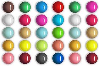 30 Pieces Spherical Fridge Magnets Multicolor Refrigerator Magnets Decorative Round Fridge Magnets for Fridge Classroom Whiteboard Locker Supplies