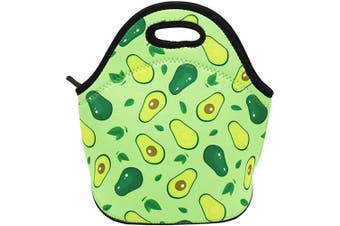 (Avocado) - Neoprene Lunch Bag Insulated Lunch Box Tote for Women Men Adult Kids Teens Boys Teenage Girls (Avocado)