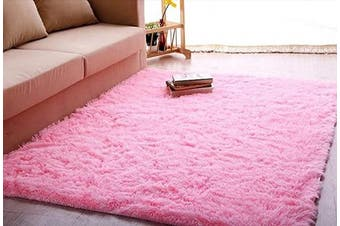 (1.6m x 2.3m, Pink) - ACTCUT Super Soft Indoor Modern Shag Area Silky Smooth Rugs Fluffy Anti-Skid Shaggy Area Rug Dining Living Room Carpet Comfy Bedroom Floor 1.6m x 2.3m,(Pink)