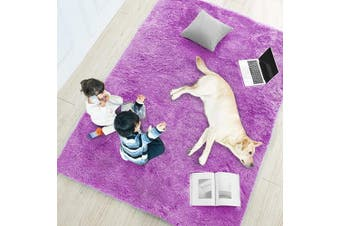 (1.5m x 2.1m, Purple) - Purple Soft Rug for Bedroom,1.5mX2.1m,Fluffy Area Rug for Living Room,Furry Carpet for Kids Room,Shaggy Throw Rug for Nursery Room,Fuzzy Plush Rug,Purple Carpet,Rectangle,Cute Room Decor for Baby