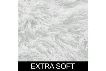(1.2m x 1.8m, White) - White Soft Rug for Bedroom,1.2mX1.8m,Fluffy Area Rug for Living Room,Furry Carpet for Kids Room,Shaggy Throw Rug for Nursery Room,Fuzzy Plush Rug,White Carpet,Rectangle,Cute Room Decor for Baby