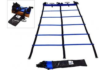(Blue - 15 ft) - Cintz Dual Speed Agility Ladder - Comes with Anchors and Carry Bag
