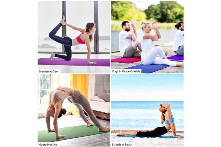 (Purple+Pink) - Dralegend Yoga Mat Exercise Fitness Mat - High Density Non-Slip Workout Mat for Yoga, Pilates & Exercises, Anti - Tear, Sweat - Proof, Classic 0.6cm