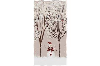 (Snowman Bird Tree) - Pfrewn Winter Snowman Bird Tree Snow Hand Towels 41cm x 80cm Colourful Bathroom Towel, Ultra Soft Highly Absorbent Christmas X-mas Small Bath Towel for Hand,Face,Gym and Spa Bathroom Decor Gifts