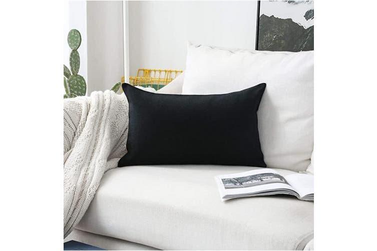 30cm X 50cm Black Home Brilliant Decorative Throw Pillow Covers For Couch Oblong Pillows Rectangular Pillow Cover 12x20 Inch 30x50 Cm Black Matt Blatt