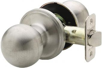 (Passage, Satin Stainless) - Copper Creek BK2020SS Ball Passage Door Knob, Satin Stainless