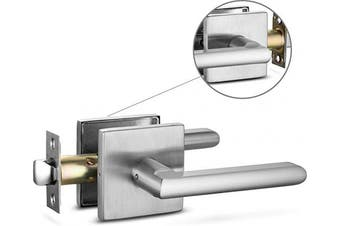 (Passage [Non locking], Brushed Nickel) - Berlin Modisch Passage Lever Door Handle Slim Square Non-Locking Lever Set [for Hallway or Closet Doors] Reversible for Right & Left Sided Doors Heavy Duty - Satin Nickel Finish