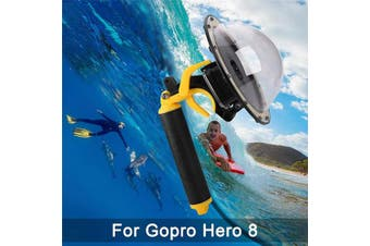 (Dome for GoPro Hero Eight) - FEIMUOSI For GoPro Dome Port, Diving Transparent Dome GoPro Hero Black Lens Waterproof Housing With Floaty Hand Grip Underwater Case for GoPro Accessories