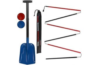 (Blue - 260 cm) - ALPIDEX Avalance Kit : Aluminium Avalanche Probe and Telescope Snow Shovel Lightweight