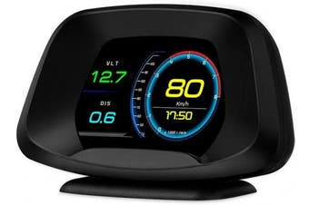 BNTTEAM P19 Navigation Version HUD Head up Display GPS/OBD2 Dual System HD Colour Screen Ai Intelligence GPS/OBD Computer Date/Speeding Warning/Goodle Map 4 in 1,Easy to Instal