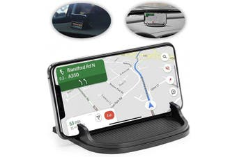 lebogner Car Phone Holder, Anti Slip Silicone Cell Phone Mount For Your Dashboard, Centre Console Or Desk, Phone Stand For iPhone, Galaxy, Android Phone & GPS, Option To Show Or Hide Your Phone Number