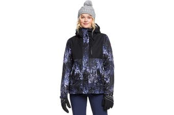 (M, medieval blue sparkles) - Roxy Women's Jetty 3-in-1-Snow Snow Jacket