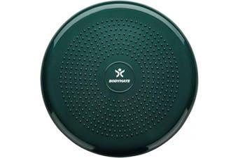 (Midnight Green) - BODYMATE 34cm Balance Cushion. Inflatable stability disc/balance board