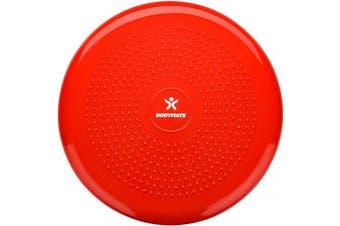 (Pepper Red) - BODYMATE 34cm Balance Cushion. Inflatable stability disc/balance board