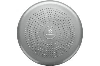(Silver) - BODYMATE 34cm Balance Cushion. Inflatable stability disc/balance board